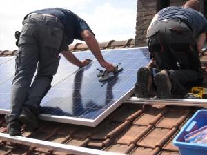 Panneaux solaires sur Sarking