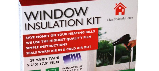 Clear & Simple Home Kit d'isolation de fenêtres